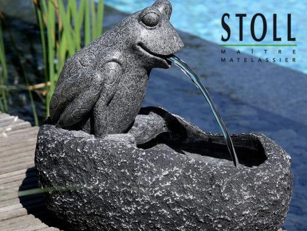 Décoration grenouille fontaine