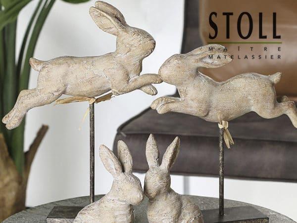 Décoration statut lapin