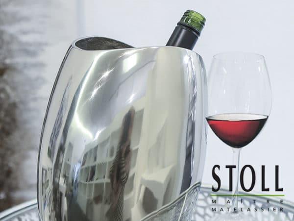 Décoration vase pour bouteille chrome