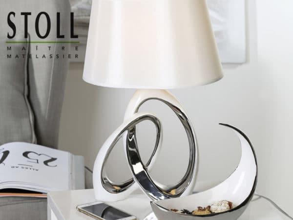 Lampe de chevet chrome